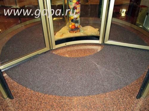 Влаговпитывающий грязезащитный ковер CATWELL (коричневый)