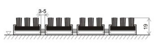 установка придверной решетки